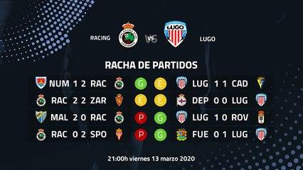 Previa partido entre Racing y Lugo Jornada 32 Segunda División