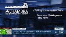 School districts taking steps over spring break regarding coronavirus