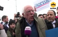 Senator Bernie Sanders torches Joe Biden outside Michigan poll site on Mini Tuesday