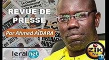 ZikFM - Revue de presse Ahmed Aidara du Mercredi 11 Mars 2020