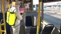 Kadıköy'de toplu ulaşım araçlarında koronavirüse karşı dezenfekte çalışmaları