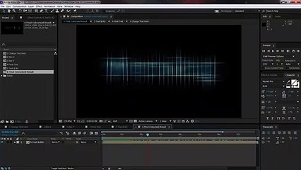 After Effects Glowing Streaky Text Project