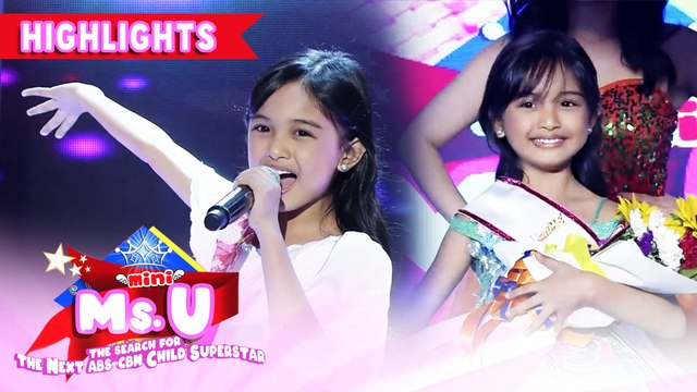 Cheska Maranan emerges as Mini Ms. U of the day | It's Showtime Mini Miss U