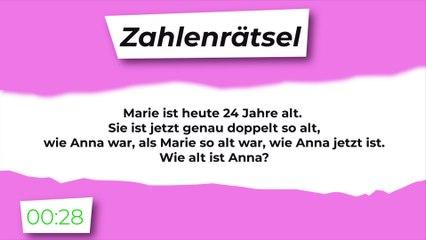 Zahlenrätsel: Marie und Anna