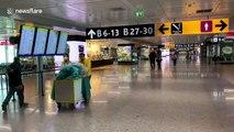 UK couple document travelling from Rome airport during nationwide coronavirus  lockdown
