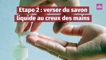 Bien se laver les mains en 8 étapes