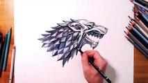 왕좌의 게임 Game of Thrones - Sigil of House Stark (Dire wolf)
