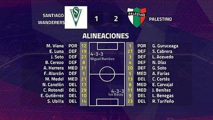 Resumen partido entre Santiago Wanderers y Palestino Jornada 7 Primera Chile