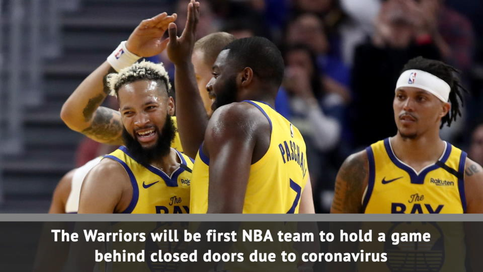 BREAKING NEWS – Warriors first NBA team to play without fans