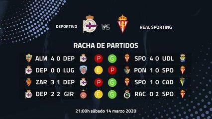 Previa partido entre Deportivo y Real Sporting Jornada 32 Segunda División