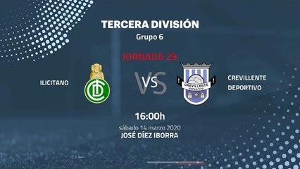 Previa partido entre Ilicitano y Crevillente Deportivo Jornada 29 Tercera División