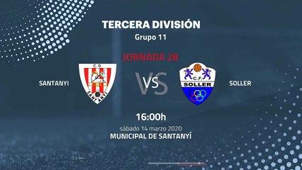 Previa partido entre Santanyi y Soller Jornada 28 Tercera División