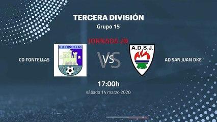 Previa partido entre CD Fontellas y AD San Juan DKE Jornada 28 Tercera División