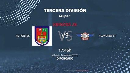Previa partido entre As Pontes y Alondras CF Jornada 28 Tercera División