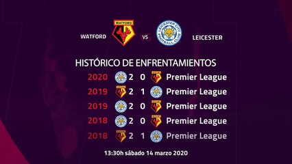 Previa partido entre Watford y Leicester Jornada 30 Premier League