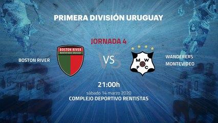 Previa partido entre Boston River y Wanderers Montevideo Jornada 4 Apertura Uruguay