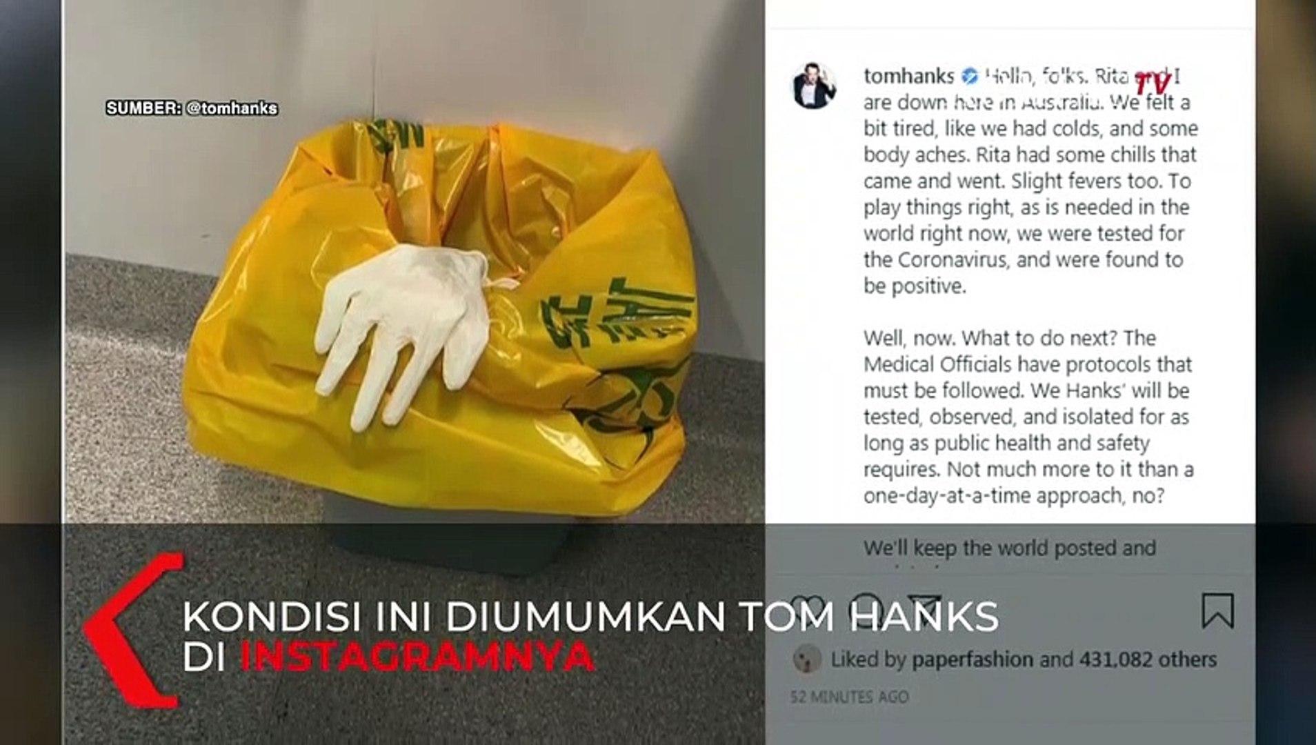 Aktor Hollywood Tom Hanks Positif Virus Corona