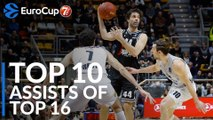 7DAYS EuroCup, Top 10 Assists of the Top 16!