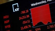 Dow falls 1,400 points as pandemic fears end 11-year bull run