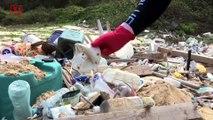 Discarded Coronavirus Face Masks Adding to Pollution on Hong Kong Beach