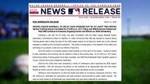 MLB announces suspension of spring traning, start of regular season
