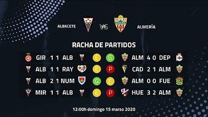 Previa partido entre Albacete y Almería Jornada 32 Segunda División