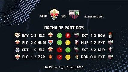 Previa partido entre Elche y Extremadura Jornada 32 Segunda División