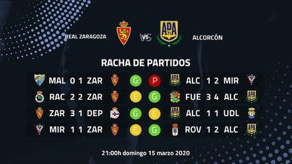 Previa partido entre Real Zaragoza y Alcorcón Jornada 32 Segunda División