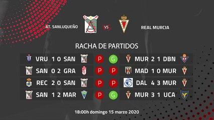 Previa partido entre At. Sanluqueño y Real Murcia Jornada 29 Segunda División B
