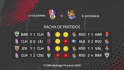 Previa partido entre CD Calahorra y R. Sociedad B Jornada 29 Segunda División B