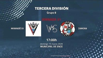 Previa partido entre Mirandés B y Zamora Jornada 31 Tercera División