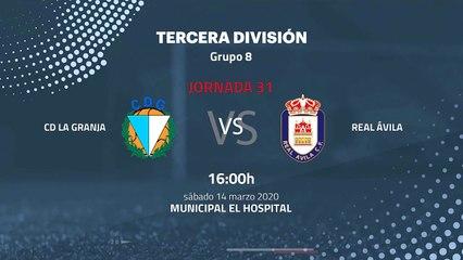 Previa partido entre CD La Granja y Real Ávila Jornada 31 Tercera División
