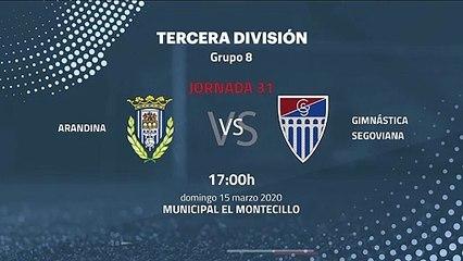 Previa partido entre Arandina y Gimnástica Segoviana Jornada 31 Tercera División