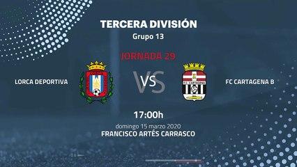 Previa partido entre Lorca Deportiva y FC Cartagena B Jornada 29 Tercera División