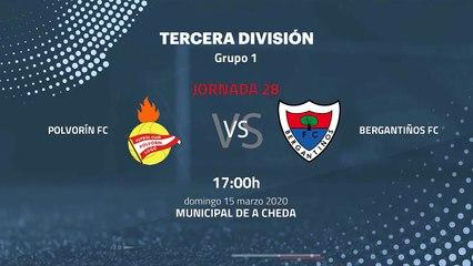 Previa partido entre Polvorín FC y Bergantiños FC Jornada 28 Tercera División