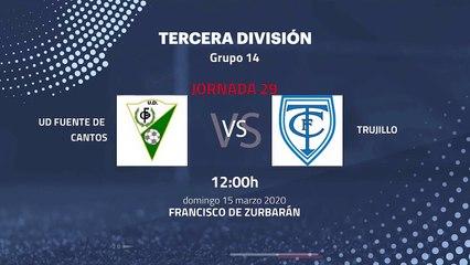 Previa partido entre UD Fuente De Cantos y Trujillo Jornada 29 Tercera División