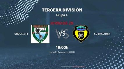 Previa partido entre Urduliz FT y CD Basconia Jornada 29 Tercera División
