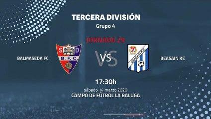 Previa partido entre Balmaseda FC y Beasain KE Jornada 29 Tercera División