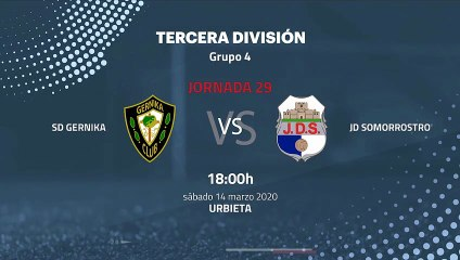 Previa partido entre SD Gernika y JD Somorrostro Jornada 29 Tercera División