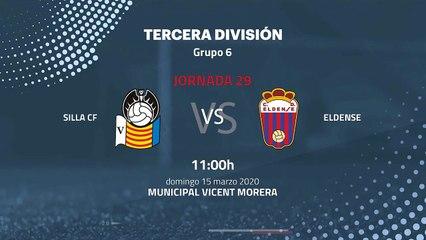Previa partido entre Silla CF y Eldense Jornada 29 Tercera División