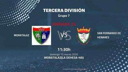Previa partido entre Moratalaz y San Fernando de Henares Jornada 29 Tercera División