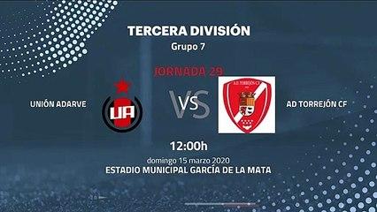 Previa partido entre Unión Adarve y AD Torrejón CF Jornada 29 Tercera División