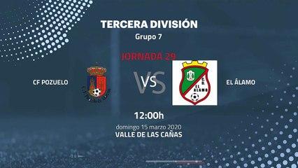 Previa partido entre CF Pozuelo y El Álamo Jornada 29 Tercera División