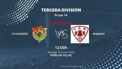 Previa partido entre CP Cacereño y Miajadas Jornada 29 Tercera División