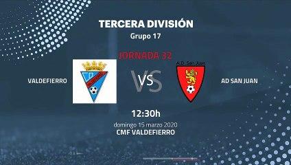 Previa partido entre Valdefierro y AD San Juan Jornada 32 Tercera División