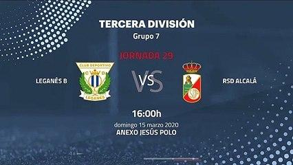 Previa partido entre Leganés B y RSD Alcalá Jornada 29 Tercera División