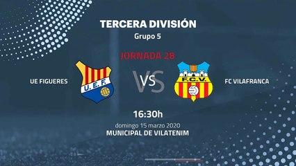 Previa partido entre UE Figueres y FC Vilafranca Jornada 28 Tercera División