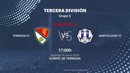 Previa partido entre Terrassa FC y Santfeliuenc FC Jornada 28 Tercera División