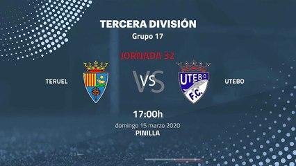 Previa partido entre Teruel y Utebo Jornada 32 Tercera División