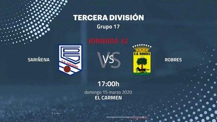 Previa partido entre Sariñena y Robres Jornada 32 Tercera División